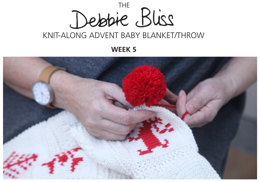 Knit-Along Advent Baby Blanket Week 5 in Debbie Bliss Mia