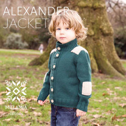 Alexander Jacket in MillaMia Naturally Soft Merino - Downloadable PDF