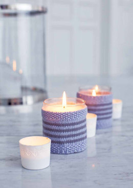 Lys Candle Holder in MillaMia Naturally Soft Merino - Downloadable PDF