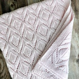 Diamonds and Lace Baby Blanket