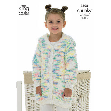 Cardigan & Sweater in King Cole Cuddles Chunky - 3308