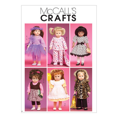 McCall's Clothes and Accessories for 18 Doll M6005 - Sewing Pattern