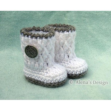 Silver Button Boots For 18 Doll Crochet Pattern By Alena Byers