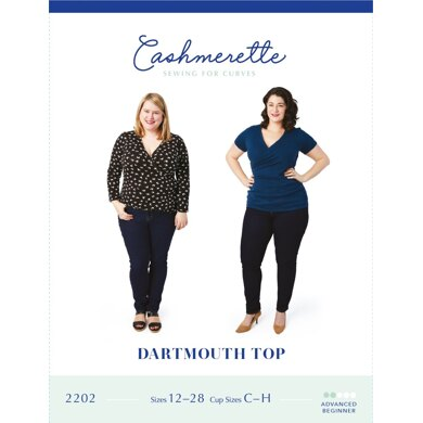 Cashmerette Dartmouth Top 2202 - Paper Pattern, Size 12 - 28