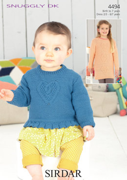 Sweater and Dress in Sirdar Snuggly DK - 4494 - Downloadable PDF