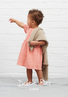 """Seraphina Blanket"" - Blanket Knitting Pattern For Babies in Debbie Bliss Luna - DB237"
