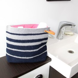 Striped Toilet Bag