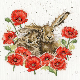 Bothy Threads Love Is In The Hare - Hannah Dale - 26cm x 26cm