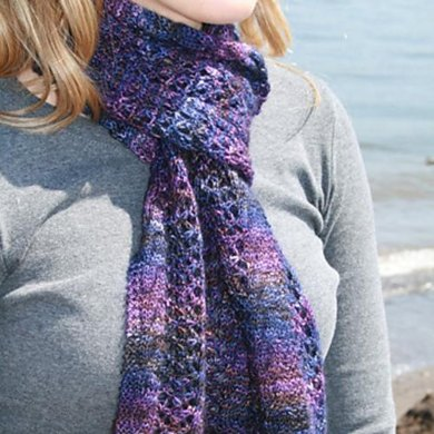 Midnight Lace Scarf