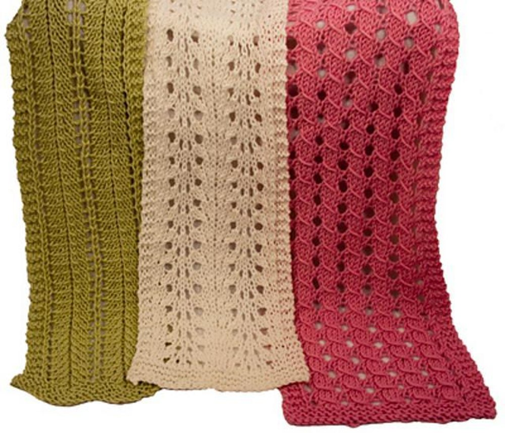 barbara ruth and leona easy lace scarves knitting pattern