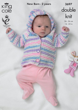Blanket, Jacket and Cardigan in King Cole DK - 3697