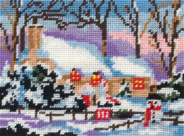Anchor Snow Cottage Tapestry Kit - 18 x 14 cm
