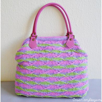 Textured-striped bag