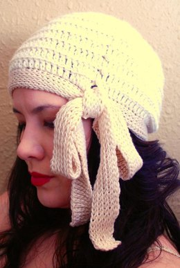 Millie Side Tie Cloche (Crochet/Tunisian Version)