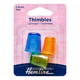 Hemline Thimble - Light Weight - 3 Assorted Sizes