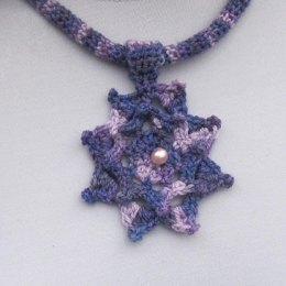 Poetry in Yarn Flower Necklace