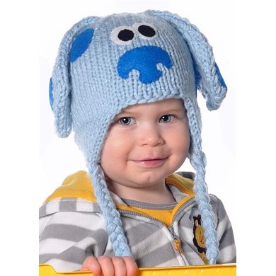 Blue Puppy Earflap Hat for Sizes 1-4 Years