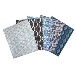 Craft Cotton Company Fans and Waves Fat Quarter Bundle