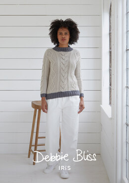 Cromer Jumper - Knitting Pattern For Women in Debbie Bliss Iris