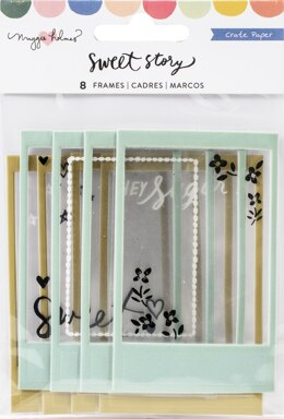 American Crafts Maggie Holmes Sweet Story Puffy Frames 8/Pkg - W/Acetate Window