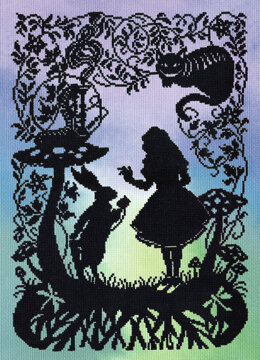 Bothy Threads Alice in Wonderland Cross Stitch Kit - 26cm x 36cm