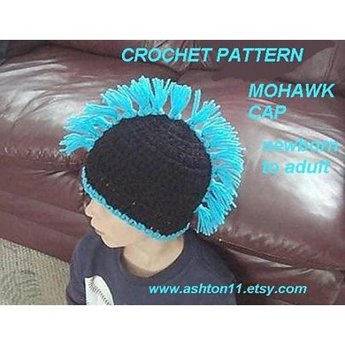 Mohawk Hat Newborn To Adult Sizes Crochet Pattern By Ashton11