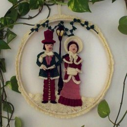 Victorian Carolers Wall Hanging