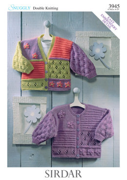 Cardigans in Sirdar Snuggly Double Knitting 3945 - Downloadable PDF