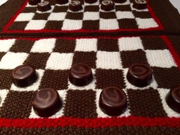 Chess or Draughts Placemats in Patons Smoothie DK