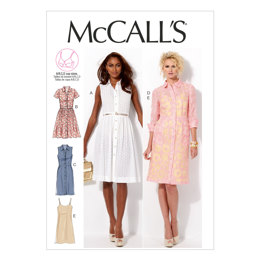 McCall's Misses' Dresses and Slip M6696 - Sewing Pattern