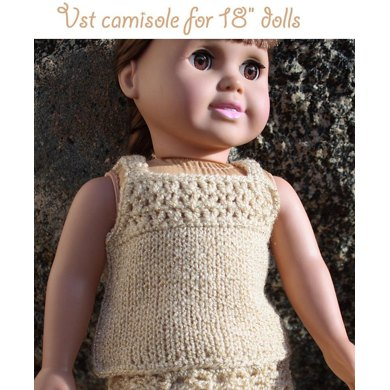 "Vst camisole top for American girl 18"" dolls"