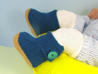 Baby One Button Booties