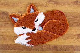 Vervaco Sleeping Fox Latch Hook Kit - 55cm x 46cm