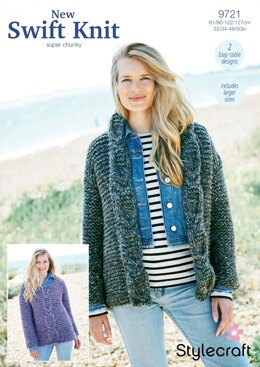 Jacket and Sweater in Stylecraft New Swift Knit Super Chunky - 9721 - Downloadable PDF