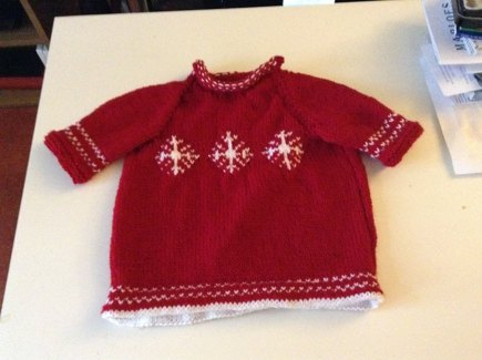 Babys Christmas knitted dress knitting project by Mandy H LoveKnitting