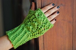 Snow Drops & Snap Peas Mitts