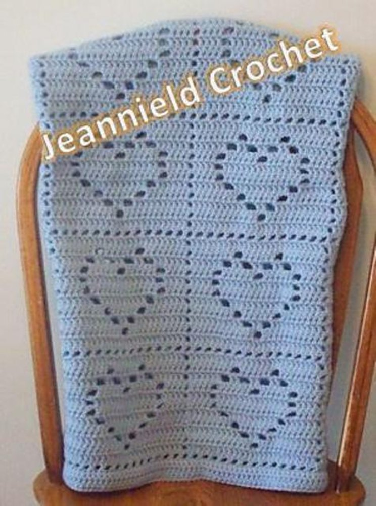 Heart Baby Blanket Crochet Pattern By Jeannie Davis