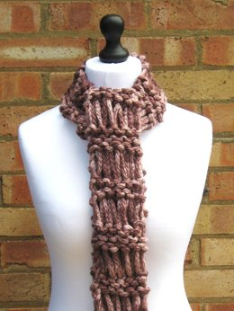 Chunky Drop Stitch Scarf