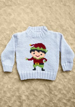 Intarsia - Boy Elf Chart - Childrens Sweater