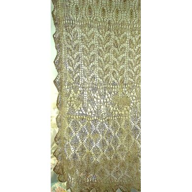 Climbing Leaves Lace Sampler Stole
