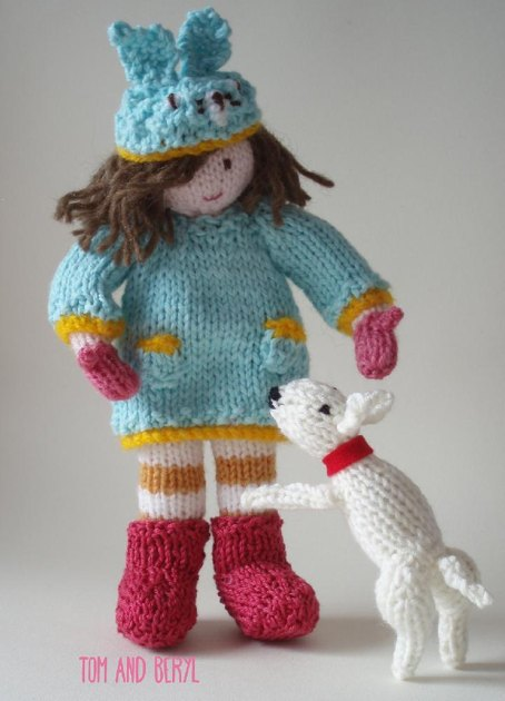Bunnie & Wilf Doll & Dog Knitting pattern by Claire Tubey ...