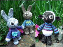 Rabbit and Lamb Woolly Jumpers Amigurumi