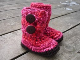 Bulky Button Loop Booties - Toddler Sizes