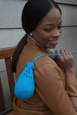 Knit And Crochet Drawstring Purses in Plymouth Yarn Anne - F665