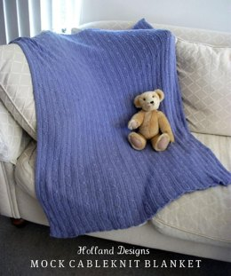 Mock Cable-Knit Baby Blanket