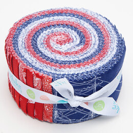 "Riley Blake Nautical 2.5"" Strip Roll"