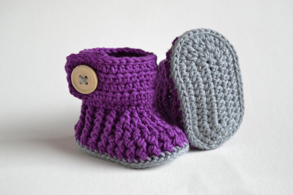 Violet Drops Crochet Baby Booties Crochet Pattern By Croby Patterns
