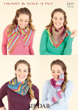 Knit and Crochet Accessories in Sirdar Heart & Sole - 7317