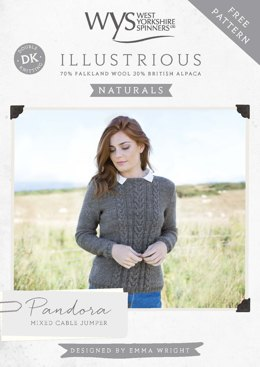 Illustrious Naturals- Pandora Mixed Cable Jumper in West Yorkshire Spinners Illustrious - Downloadable PDF