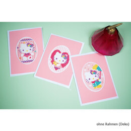 Vervaco Hello Kitty Greeting Cards Cross Stitch Kit (3 pcs)